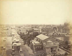 Hare Street, Calcutta, looking towards the River